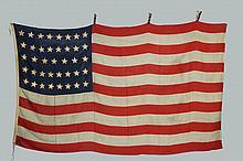 RARE 39 STAR AMERICAN FLAG - 1876 Vintage