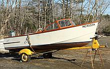 16 FOOT BRISTOL RUNABOUT - Boat, Motor and Trailer, all circa 1956