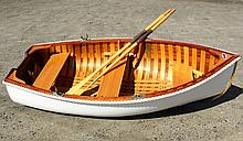OLD TOWN YACHT TENDER - 7 ½ foot Canvas covered Mahogany and Cedar Yacht Tender by the Old Town Canoe Company