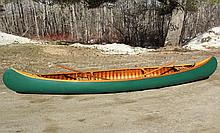 OLD TOWN CANOE - Old Town 16 ' Canoe, S/N 145575, CS (common sense or middle) grade, Otca model with open spruce gunwales, ash decks, ash thwarts, ash seats, and a keel