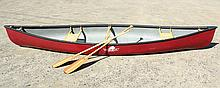 CANOE - 14 foot fiberglass canoe by the Bear Creek Canoe & Kayak Company, Limerick, ME,  S/N: RTN06740G023, 38