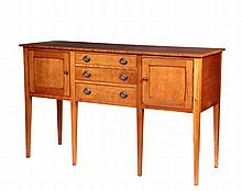 CUSTOM SIDEBOARD - Country Hepplewhite style, in cherry by Eldred Wheeler, with a Hingham Mass label (1970s), still manufactured now and currently lists at $3,595