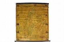 PRE-CIVIL WAR MAINE TOWN HALL MAP -