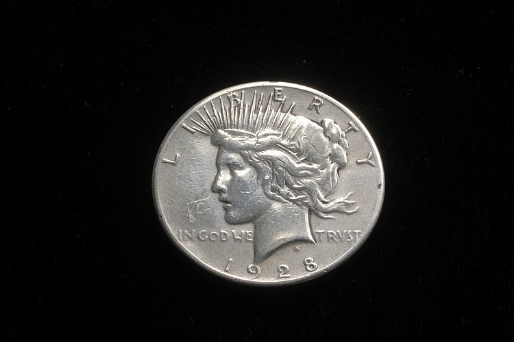 COIN - One Peace Dollar, 1928, very scarce key date.