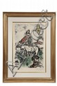 COLOR LITHOGRAPH - 'Passage du Midi' by Marc Chagall (Russia/France, 1887-1985), artist's proof 15/25, pencil numbered and signed, 1