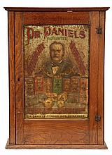 VET ADVERTISING CABINET - Circa 1910 Oak Cabinet with tin litho sign for