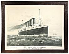 STEAMSHIP ADVERTISING PRINT -