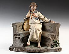 STORE ADVERTISING FIGURINE - Painted Plaster