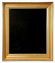 LARGE GOLD FRAMED MIRROR - Early 19th c. Lemon Gold Deep Cove Molded Frame with mirror. 37 1/2