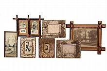 (6) SMALL FOLK ART FRAMES - Tramp Art & Adirondack Frames of the period, 6