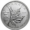 2008 1 oz Silver Canadian Maple Leaf (BU) (Vancouver) - L31072