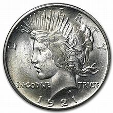 1921 Peace Dollar MS-64 PCGS - L31867