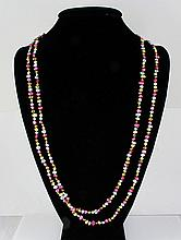 223.00CTW 31in. MULTI-COLOR LONG STRAND PEARL NECKLACE - L19217