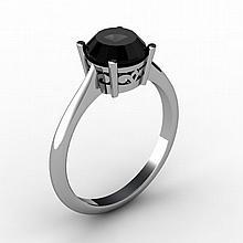 Black Diamond 1.25 ctw Ring 14 kt White Gold - L15197