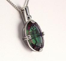 Natural Stone Mystic Topaz Pendant - L23039