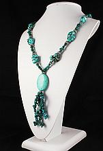Fashion Turquoise & Beads Necklace - L23891