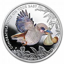 2013 1/2 oz Silver Newborn Baby Kookaburra Proof Coin - L25040