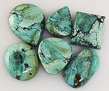 Natural Turquoise 192.41ctw Loose Small Gemstone Lot of 6 - L21344