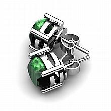 Emerald 5.00ctw Earring 14kt White Gold - L10933