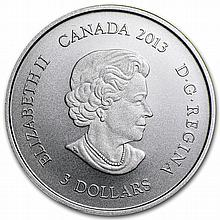 2013 1/4 oz Silver Canadian $3 100th Anniv. of Arctic Expedition - L28701