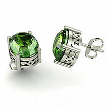 Tourmaline 4.60ctw Earring 14kt White Gold - L11128