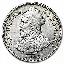Panama 1904 Silver 10 Centesimos AU Details - L27561