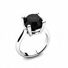 Black Diamond 4.00ctw Ring 14kt White Gold - L11020
