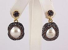 Victorian Vintage Mother of Pearl Earring - L22999