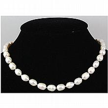 154.68 ctw Roval White Freshwater Pearl Necklace - L17228