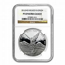 2012 1 oz Silver Mexican Libertad PF-69 UCAM NGC - L24949