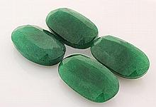 148.63ctw Faceted Loose Emerald Beryl Gemstone Lot of 4 - L20401