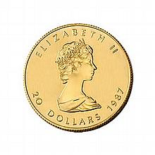 Canada Maple Leaf Half Ounce Gold Coin (Dates Our Choice) - L21623