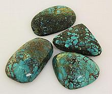 Natural Turquoise 225.36ctw Loose Gemstone 4pc Big Size - L21199