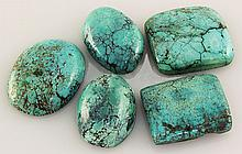 Natural Turquoise 120.73ctw Loose Small Gemstone Lot of 5 - L21228