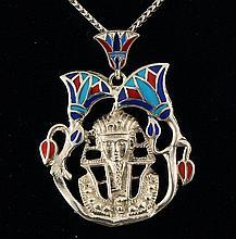 14.84g Egyptian Jewelry - Egyptian Pharaoh King Tut Pendant - L21763