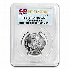 2012 1/2 oz Silver Britannia PR-70 DCAM PCGS (FS) - L19918