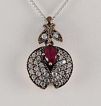 Natural Stone Vintage Victorian Design Pendant - L23135