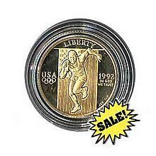 Gold $5 Commemorative 1992 Olympic BU - L18408
