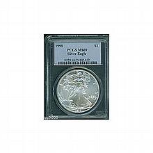 1998 1 oz Silver American Eagle MS-69 PCGS -Low Pop - L22865