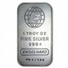 1 oz Engelhard Silver Bar .999 Fine - L24733