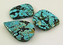 Natural Turquoise 201.30ctw Loose Gemstone 3pc Big Size - L21175