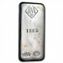 1 kilo (32.15 oz) Johnson Matthey Silver Bar (Vintage / Canada) - L24780