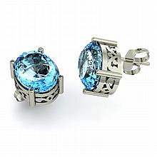 Topaz 5.00ctw Earring 14kt White Gold - L11127