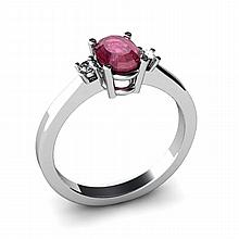 Ruby 1.06ctw Ring 14kt White Gold - L11040