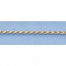Pure Gold 16 14kt Italian Gold-Yellow or White 1.0mm, D/C Rope Chain Gauge:D/C, 2.6gr - L11275