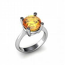 Citrine 3.30ctw Ring 14kt White Gold - L11010