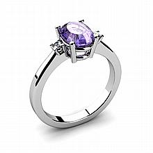 Tanzanite 1.35ctw Ring 14kt White Gold - L11054