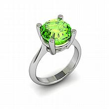 Peridot 5.25ctw Ring 14kt White Gold - L11014