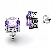 Tanzanite 2.50ctw Earring 14kt White Gold - L11189
