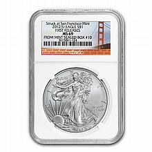 2012 (S) Silver Eagle (NGC MS-69) Bridge Label Box #10 (FR) - L22500